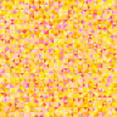 Tiled background with many triangles. Geometric bright wallpaper. Mosaic texture. Seamless pattern. Pretty colors. Print for flyers, posters, banners and textiles. Greeting cards