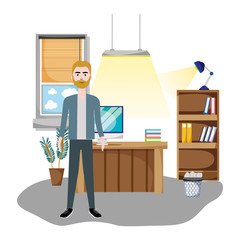 Worker at office