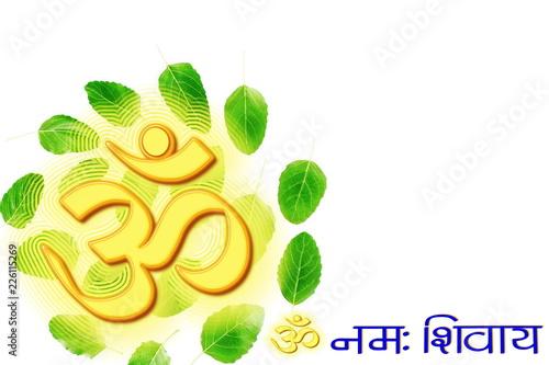hinduism buddhism religious symbol om or aum and 'om namaha