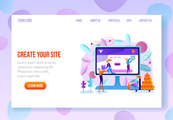 User Onboarding Web Page Flat Vector Template