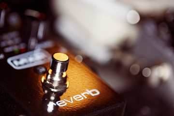 Photo of music gear - guitar reverb pedal.