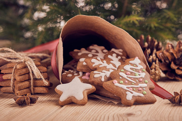 Christmas gingerbread cookies.
