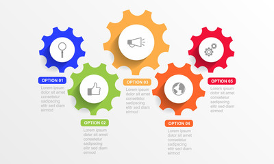 Infographic template with option or step for business presentation