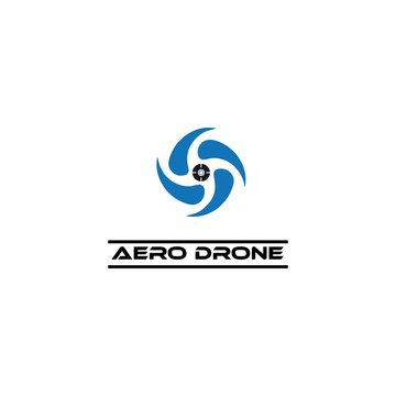 aero drone logo template
