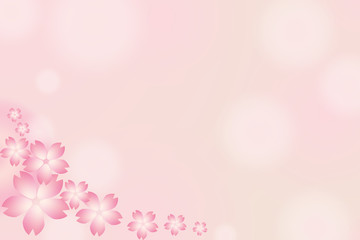 Beautiful Japanese cherry, Flower background card, cherry blossom. Pink Sakura isolate background