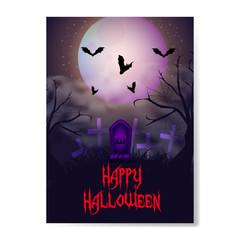 halloween horror night background poster
