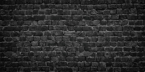 black wall of bricks, high quality background for design solutions