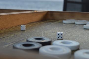 Backgammon Details & Sea view