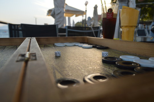 backgammon on the coffee table