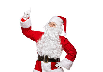 Santa Claus isolated on white background.