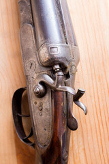 two-barreled rifle
