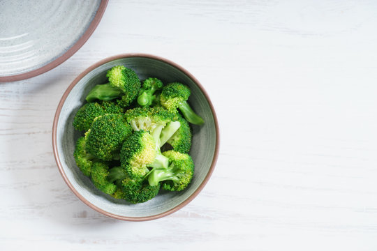 Fresh steamed broccoli