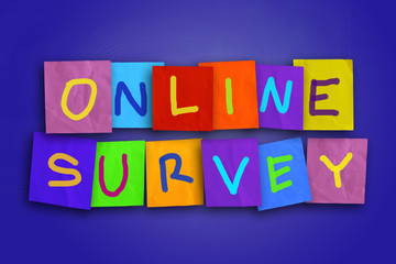 Online Survey, Motivational Business Internet Marketing Words Quotes Concept