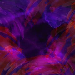 Watercolor blue, purple background, blot, blob, splash of blue, purple pink red paint on black background. Watercolor blue, purple sky, spot, abstraction. Abstract art illustration, scenic background