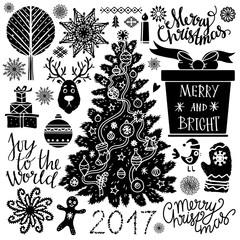 Christmas icons, signs, symbols