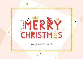 Wall Mural - Merry Christmas background. Horizontal template.