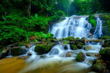Thep Sadet Water falll in Chiang Mai,Thailand.