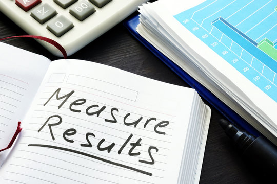 Measure results written by hand in a note pad.