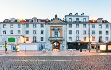 Rossio square in Lisbon Portugal