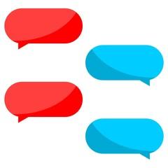 Message Bubbles Icon, Chat Icon, Dialogue icon