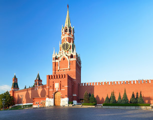 Kremlin wall with tower, Russia - Moscow red square