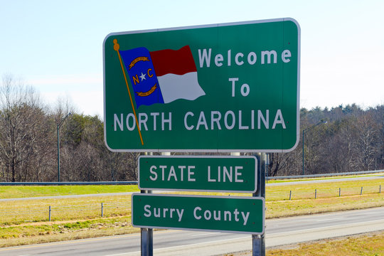North Carolina Welcome Sign