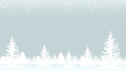 モミの木と雪のバックグラウンド