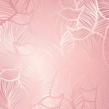 Abstract vintage seamless damask pattern. Rose gold