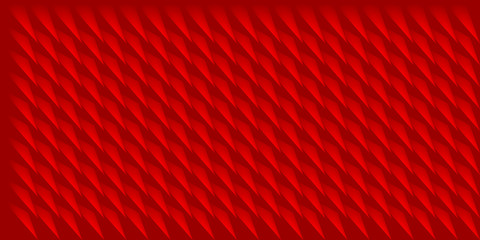 Volume realistic vector triangles texture, red geometric pattern, design background for you projects