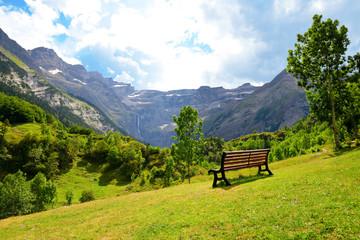 Cirque de Gavarnie in the French Pyrenees. Summer mountain landscape.