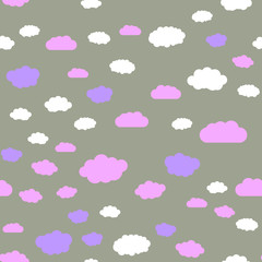 Clouds and sky Seamless vector EPS 10  Abstract geometric pattern. Multicolor Figures. Texture for print and Banner. Flat style