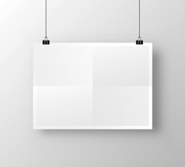 Paper poster A4 on the white background. Vector illustration