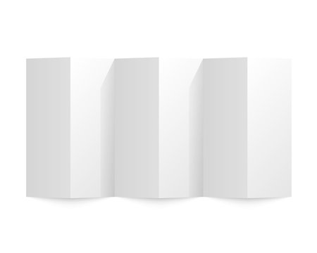 Folded paper on a white background. Vector illustration