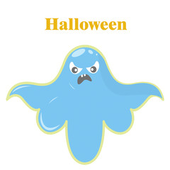3D illustration. Halloween, blue bat