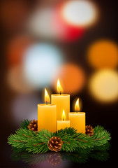 Christmas burning candles