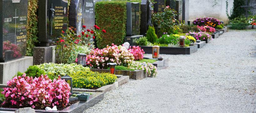 Church-yard, Friedhof, Allerheiligen, Allerseelen, Gräber, Banner, Panorama, Header, headline, Textraum, copy space