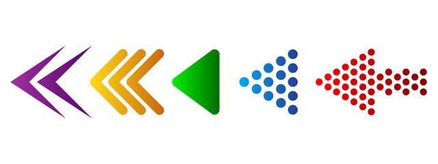 Set of arrows. Vector illustration