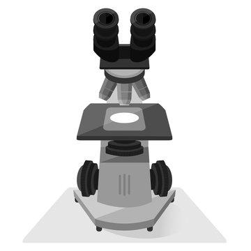 Microscope isolated illustration