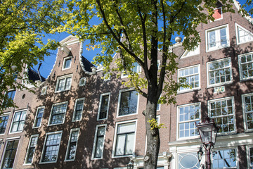 Grachten-Perspektive in Amsterdam