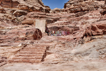 Stairs To The Monastery Of Petra