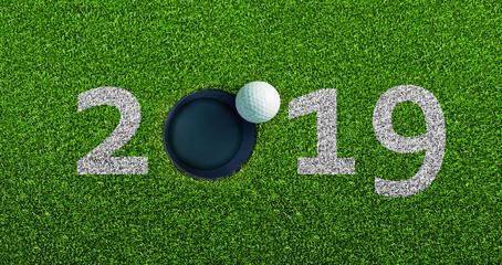 Golfball am Loch 2019