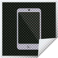 cell phone graphic square sticker