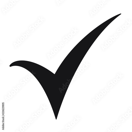 Black check mark icon  Tick symbol, tick icon vector illustration