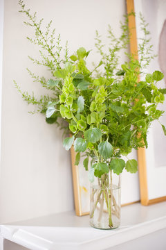 green foliage flower arrangement