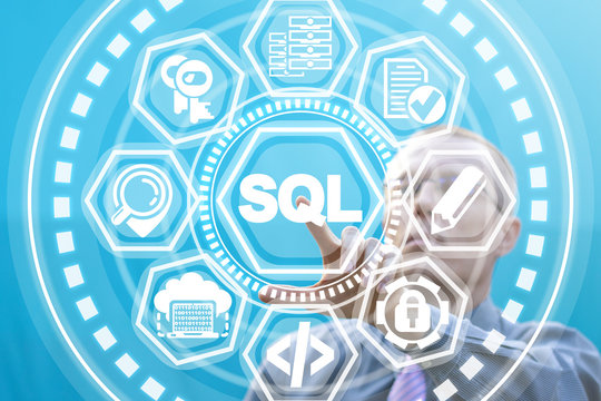 SQL - structured query language database programming concept.
