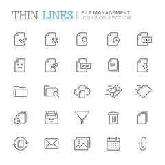 Collection of shopping related line icons. Vector eps8