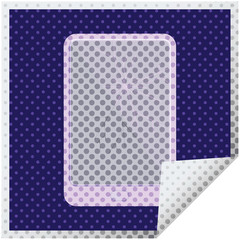 broken electronic tablet vector square sticker