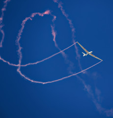 Amazing race of aerobatics planer