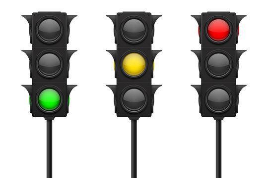 Traffic lights. Set