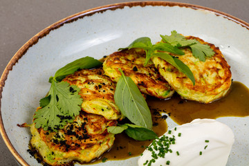 Pancakes with zucchini